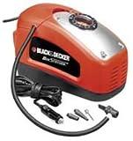 Black+Decker Kompressor, 11 bar / 160PSI, Luftpumpe, digitale Druckeinstellung, Kabelfächer,...