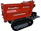 PowerPac Großer, Starker Raupen-Dumper, Motor-Schubkarre, 3-Seiten-Kipper für die Landwirtschaft...