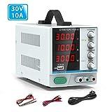 Labornetzgerät, Variable DC-Stromversorgung, 0-30 V / 0-10 A, einstellbares, schaltreguliertes...
