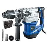 LUX-TOOLS BHA-1500 Bohrhammer mit SDS Plus Aufnahme, Antivibrationsgriff & Tiefenanschlag inkl....