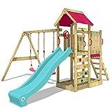 WICKEY Spielturm MultiFlyer Garten Kletterturm mit Doppelschaukel, Rutsche, Sandkasten und viel...