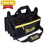 Werkzeugtasche,TECCPO Werkzeugbeutel 43x 29 x 20cm, Verstellbarer Schultergurt, 9 Außentaschen und...