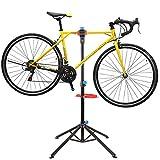 FEMOR Fahrradmontageständer mit Werkzeugablage Fahrrad Reparaturständer höhenverstellbar &...