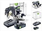 Festool HKC 55 Li EB Basic Plus Akku Hand Kreissäge im Systainer mit 1 x BP 18 Li 3,1 C Akku und...