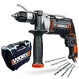 WORX WX318 Schlagbohrmaschine 810W mit robustem Metall-Getriebegehäuse, stufenloser...