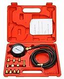 FreeTec 13tlg. Motor Öldruck Tester Öldruckprüfer Messgerät Öldrucktester Werkzeug Prüfer 0-35...