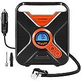 Elektrischer Kompressor, Digital Portable Auto Luftpumpe Reifenfüller 12 Volt 150 PSI-Reifen-Pumpe...