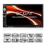 Doppel Din Autoradio,OCDAY 2 Din Autoradio mit FHD Touchscreen,Autoradio MP5 Spieler...