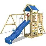 WICKEY Spielturm MultiFlyer Kletterturm Spielplatz Garten mit Schaukel, Rutsche und Kletterwand,...