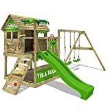 FATMOOSE Spielturm TikaTaka Town XXL Kletterturm mit Doppelschaukel, Rutsche und viel...
