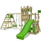 FATMOOSE Spielturm BoldBaron Boost XXL Spielplatz Ritterburg mit Surfanbau und Doppelschaukel,...
