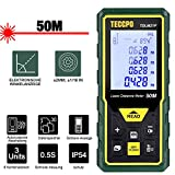 Laser Entfernungsmesser Distanzmessgerät TECCPO, Elektronische Libelle, m/in/ft/ft + in,...