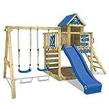 WICKEY Spielturm Smart Cave Kletterturm Spielhaus auf Podest mit Schaukel und Rutsche, großem...