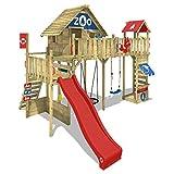 WICKEY Spielturm Smart Ranger Stelzenhaus Spielplatz auf 200cm Podesthöhe mit Holzdach, Rutsche,...