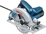 Bosch Professional Handkreissäge GKS 190, Kreissägeblatt: 190 mm, Absaugadapter, Parallelanschlag,...