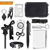 Yissvic Survival Kit, Emergency Survival Kit Außen Survival Set mit Klappmesser, Feuerstarter,...