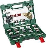 Bosch 91tlg. V-Line Titanium-Bohrer- und Bit-Set mit Ratschen-Schraubendreher und Magnetstab