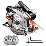 Kreissäge, Tacklife Handkreissäge Bleche Kompatibel 185 und 190mm, Schneidtiefe 63mm (90°), 45mm...