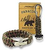 Visionquest Outdoor & Survival Paracord Geschenkset | Armband mit Edelstahlverschluss |...