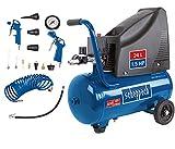Scheppach Kompressor HC25o (1100W, 24 L, 8 bar, Ansaugleistung 165 l/min, Druckminderer, ölfrei) -...