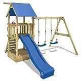 WICKEY Spielturm Smart Echo Spielplatz Kletterturm mit Sandkasten, Doppelschaukel und Rutsche