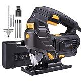 Stichsäge, TECCPO 800W Stichsägen Schnitttiefe: 100mm, 22mm Hubhöhe, 0-3000SPM, Laserlicht, 2m...