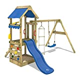 WICKEY Spielhaus FreshFlyer Spielturm Kletterturm Schaukel Rutsche Sandkasten