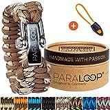 PARALOOP Paracord Armband für Herren/Männer  inkl. Geschenkbox  Verschluss aus Edelstahl  in...