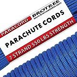 Brotree Paracord 550 Nylon Seil mit 7 Strängen Fallschirmschnur Reißfestem Kernmantel Seil 250KG...