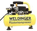 WELDINGER Flüster Kompressor FK 40 compact 275 W Luftabgabe 32 l/min Airbrush systainerfähig...