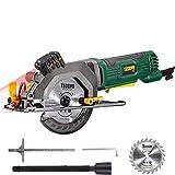 Handkreissäge, TECCPO 480W Kreissäge mit Laserführung, reiner Kupfermotor, Schnitttiefe 43 mm (90...