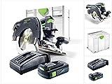 Festool HKC 55 Li EB-Basic Akku Handkreissäge 18V (201358) 160 mm Brushless im Systainer + 1x 3,1Ah...
