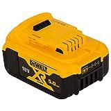 DeWalt Ersatzakku (18 Volt, 5,0 Ah Li-Ion, kompatibel mit allen 18 Volt XR Akku-Maschinen von...