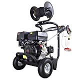DeTec. DT-LB250AS Benzin-Hochdruckreiniger mit 13 PS Flächenreiniger 250 bar Arbeitsdruck