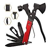 Survival Kit, Messer and Axt, Multifunktionswerkzeug 18-in-1 Multitoolaus Edelstahl Tragbar Hammer...