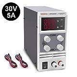 Labornetzgerät, Eventek 0-30V 0-5A DC Regelbar Netzgerät Stabilisiert Digitalanzeige Labornetzteil...