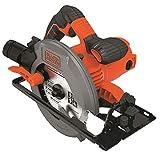 Black+Decker Handkreissäge (1500W, Schnitttiefe 66mm/50mm (90°/45°) Sägeblatt mit...