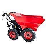 BRAST Benzin Muldenkipper Mini-Dumper Motor-Schubkarre Dumper Radlader 4,8kw/6,5PS Allradantrieb 300...