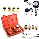 PowerTools Kompressionstester-Set, Benzin Motor Kompressionsprüfer 0-20 bar oder 0-300 psi...