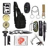 2021 Survival Kit 15in1 Erste-Hilfe-Kit taktischer Rucksack Messer Paracord-Uhr Säge taktischer...