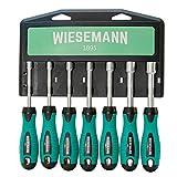 Steckschlüssel-Schraubendreher Satz 7tlg. für Außensechskantschrauben 6-12mm Matt-verchromt mit...
