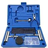 EletecPro Reifen Reparaturset 47 TLG Autoreifen Flickzeug Multifunktion Reparatur Werkzeug für...