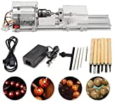 SEAAN Mini Lathe Perlen Polierer Maschine, CNC-Bearbeitung für Tisch Holzbearbeitung Holz,...