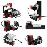 Fesjoy Mini DIY Drehmaschine, 6 in 1 Mehrzweckmaschine Drehbank Metalldrehbank Metalldrehmaschine...