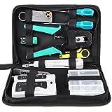 FIXKIT 12 in 1 Netzwerk Werkzeug Set mit lsa Auflegewerkzeug für Haushalt und Fabrik, Computer...