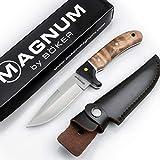Böker Magnum® Elk Hunter scharfes Fahrtenmesser - feststehendes Messer mit Parierelement -...