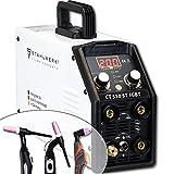 STAHLWERK CT550 ST - kompaktes WIG/MMA Schweißgerät mit Plasmaschneider bis 12mm, 200 Ampere...