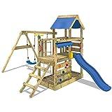 WICKEY Spielturm TurboFlyer - Klettergerüst für die ganz Kleinen mit Schaukel, Strickleiter,...
