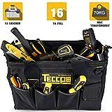 Werkzeugtasche, TECCPO Werkzeugbeutel, 450 x 300 x 200 mm, Aufbewahrungstaschen im Inneren, robuster...