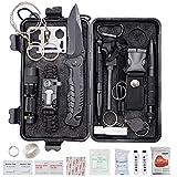 Procase Emergency Survival Kit, 40-in-1-Outdoor-Überlebensausrüstung und Ausrüstung mit...